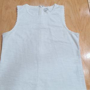 Jcrew szL winter white textured sleeveless blouse